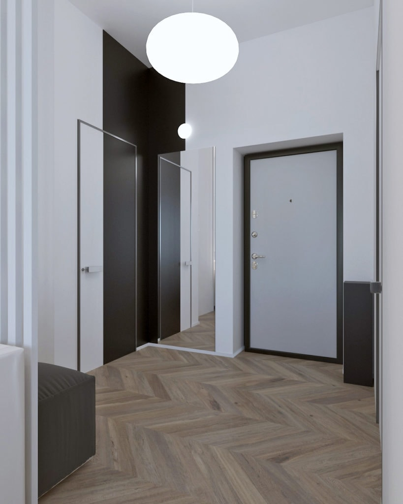 Интерьер коридора в ЖК ПИРС