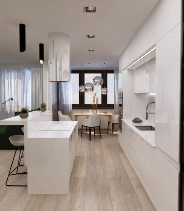 Дизайн интерьера кухни в ЖК Маяк