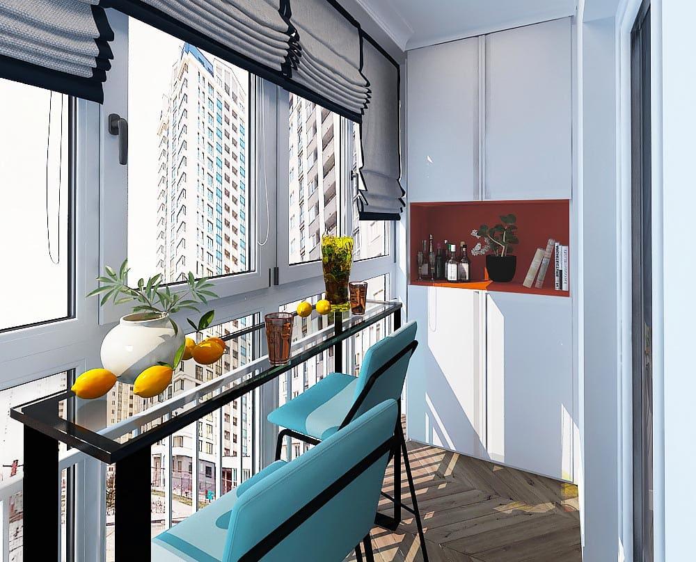 Балкон с барной стойкой
