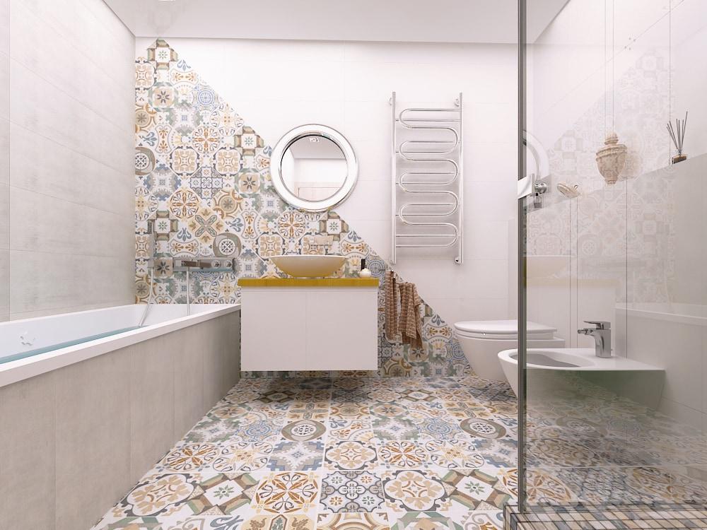 Ванная комната, раскладка плитки