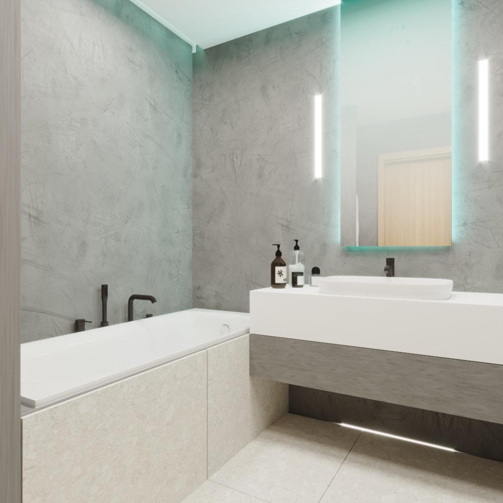 Интерьер ванной комнаты в Новой Боровой