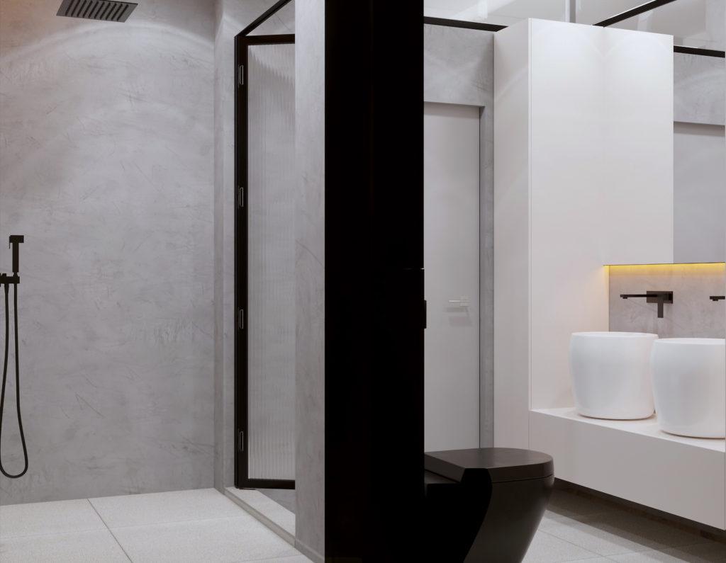 Интерьер ванной комнаты в ЖК ПИРС