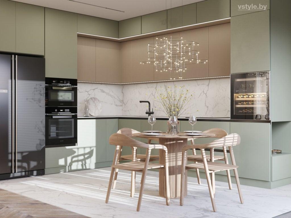 Дизайн интерьера кухни в Минск Мире