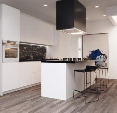Дизайн интерьера кухни в квартире в Принстоне, Нью_Джерси