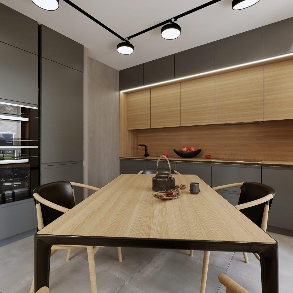 Интерьер кухни-столовой в Новой Боровой