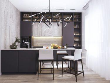 Дизайн интерьера кухни в квартире по ул.Панфилова