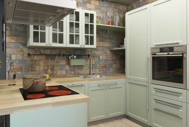 Дизайн интерьера кухни в квартире по ул.Ефросиньи Полоцкой