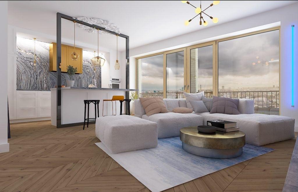 Квартира-студия в Лондоне, общий вид
