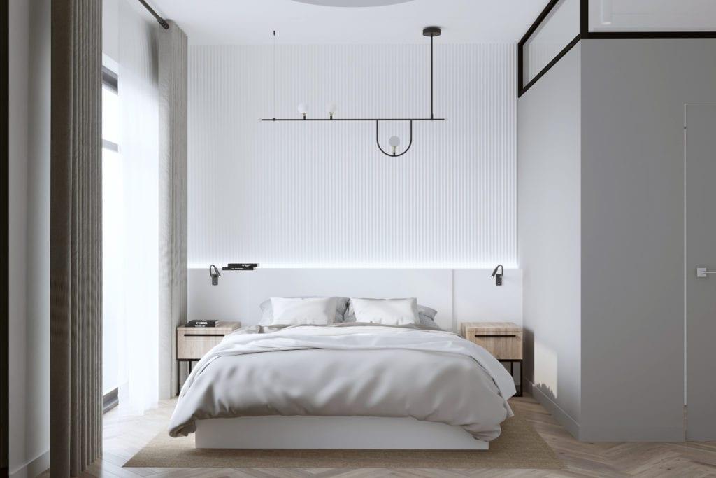 Интерьер спальни в ЖК Пирс