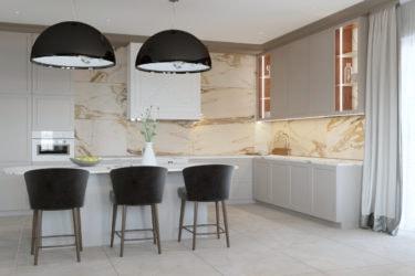 Дизайн интерьера кухни в доме в Колодищах