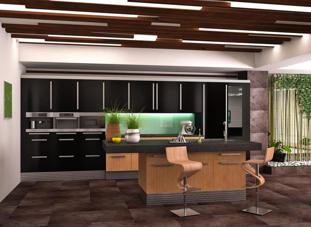 Дизайн интерьера кухни в доме в Гродно