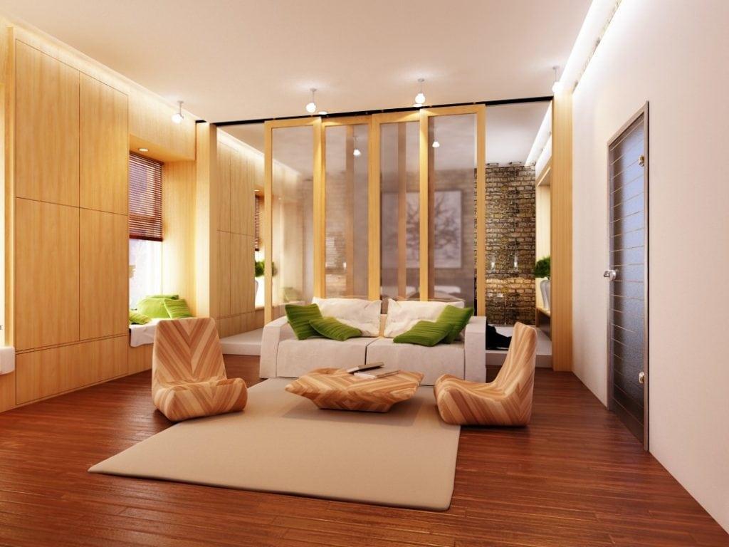 Спальня в доме, общий вид
