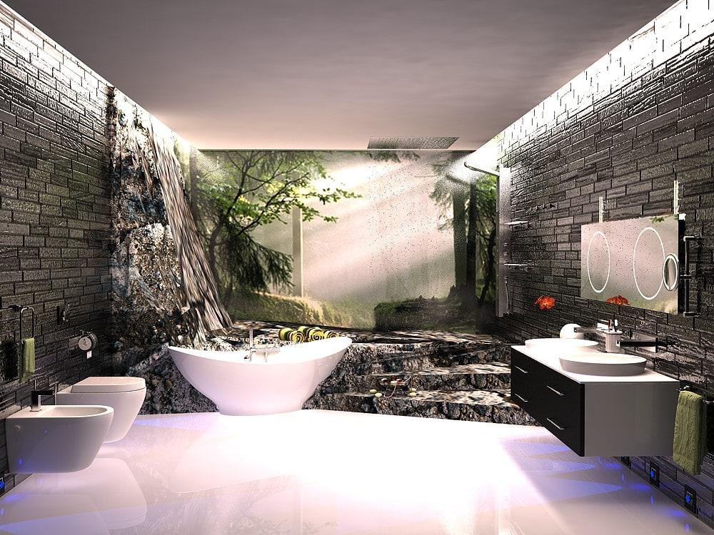 Спа-зона в ванной комнате