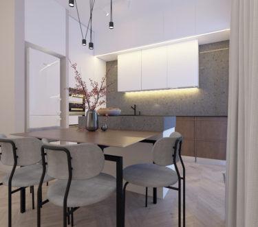 Дизайн интерьера кухни в ЖК Пирс