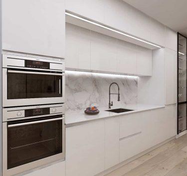 Дизайн интерьера кухни в квартире по ул.Мстиславца