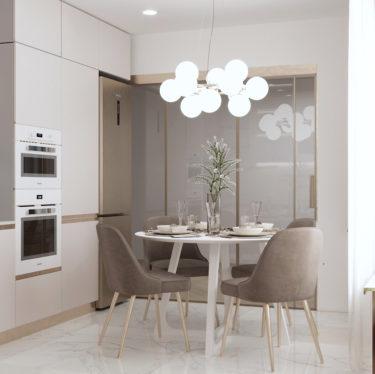 Дизайн интерьера кухни в квартире по ул.Космонавтов