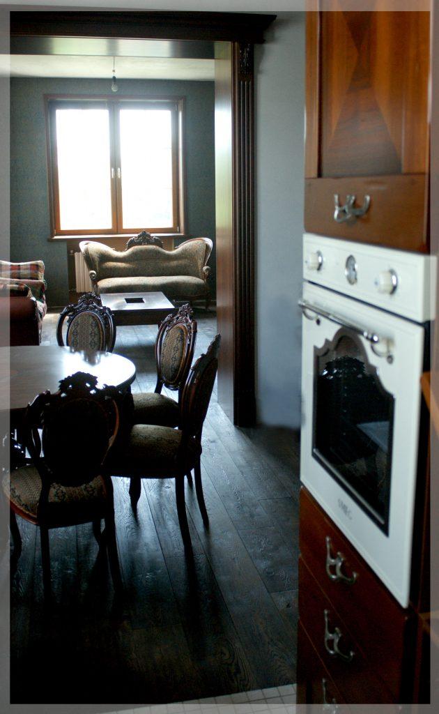 Кухня, вид на гостиную